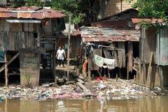 Mauvaises maisons Photo libre de droits