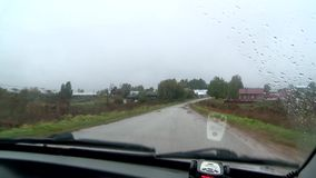 Mauvaises routes en Russie banque de vidéos