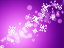 Mauve Bokeh Means Merry Christmas And Celebrate Royalty Free Stock Image