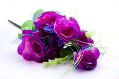 Mauve bouquet. On white background Stock Image