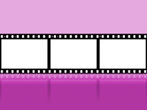 Mauve Copyspace Shows Camera Film And Cinematography Stock Image