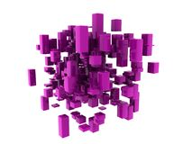 Mauve cubes Royalty Free Stock Photography