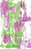 Mauve en groene abstracte stroken van verf stock foto's