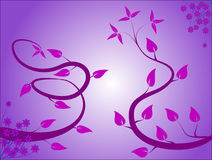 Mauve Floral Background Royalty Free Stock Images
