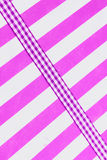 Mauve gingham ribbon Stock Image