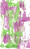 Mauve and green abstract streaks of paint stock photos