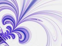Mauve lijnen en spiralen op een lichte achtergrond Stock Foto