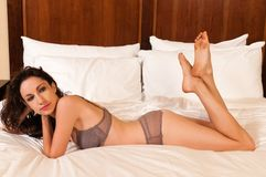 Mauve lingerie Stock Photography