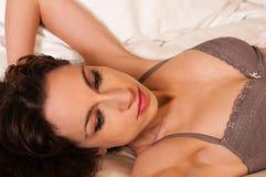 Mauve lingerie Stock Images