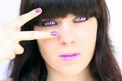 The mauve make up Royalty Free Stock Images