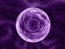 Mauve molekuła - 3D ilustracja ilustracja wektor