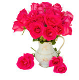 Mauve roses posy  in vase Royalty Free Stock Images