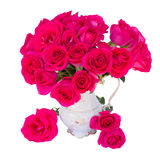 Mauve roses in vase Stock Image