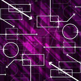Mauve Shapes Background Means Rectangles Oblongs And Arrows Stock Photo