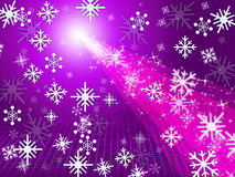 Mauve Snowflake Shows Light Burst And Christmas Stock Images