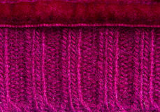 Mauve sweater background. Macro texture of knitted soft mauve sweater background Stock Images