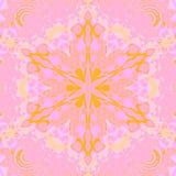 Mauve violet d'étoile d'ornement de rose sans couture de jaune Images libres de droits