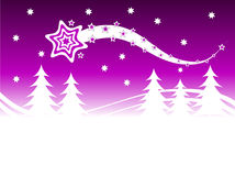 Mauve Winter Background Stock Photography