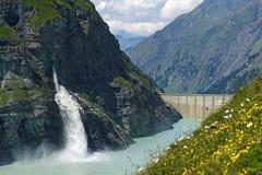 Mauvoisin water reservoir Royalty Free Stock Photo
