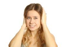 Maux de tête Photo stock