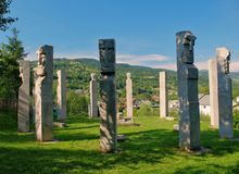 Mauzoleum bohaterzy od Moisei w Viseului dolinie, Maramures Rumunia zdjęcia royalty free