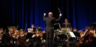 mav orkiestra wykonuje symfonicznego Obrazy Stock