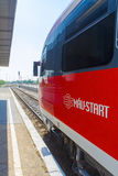 MAV train in Balatonfured Stock Photography