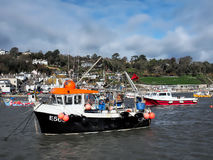 Maverick Fishing Boat - Lyme Regis Harbour Royaltyfria Foton