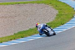 Maverick Viñales πειραματικό 125cc του MotoGP Στοκ Εικόνα
