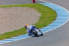 Maverick Viñales πειραματικό 125cc του MotoGP Στοκ Εικόνες
