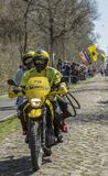The Mavic Bike in The Forest of Arenberg- Paris Roubaix 2015 Stock Photos