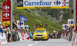 Mavic Car on Col du Lautaret Royalty Free Stock Photography