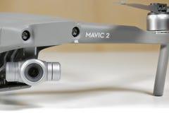 Mavic 2 Zoom DJI. ROME, ITALY - SEPTEMBER 9, 2018: close-up photograph of the new Mavic 2 Zoom DJI stock photography