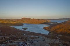 Mavis Grind härligt ställe på Shetland öar Royaltyfri Fotografi