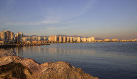 Mavisehir - Izmir Skyline before Sunset Royalty Free Stock Image