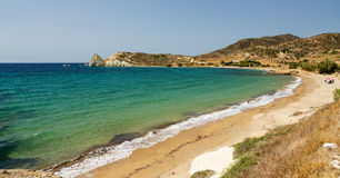 Mavrospilia beach, Kimolos island, Cyclades, Greece Stock Photo