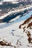 mavrovo македонии озера Стоковые Изображения RF