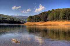 Mavrovo. A HDR picture of the Mavrovo lake in Macedonia Stock Photography