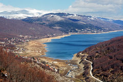 Mavrovo Lake, Macedonia. Shot of the Mavrovo Lake, Macedonia royalty free stock photos