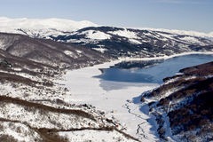 Mavrovo Lake, Macedonia Royalty Free Stock Images
