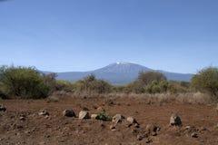 Mawenzi i Kibo szczyty w Kilimandaro Obrazy Royalty Free