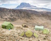 Mawenzi når en höjdpunkt, den Kilimanjaro nationalparken, Tanzania, Afrika Royaltyfria Bilder