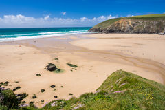Mawgan Porth Newquay Cornwall Royalty-vrije Stock Foto