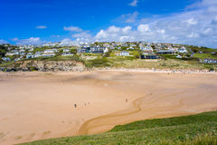 Mawgan Porth Newquay Cornwall Stock Foto