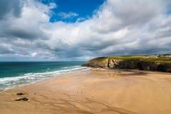 Mawgan porth strand in Cornwall royalty-vrije stock foto
