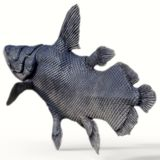 Mawsonia-Fisch-Endstück stockfoto