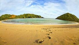 Mawun海滩, Lombok,印度尼西亚美丽的Sceneray  图库摄影