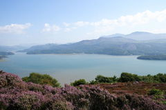 Mawwdach Estuary. A view along the Mawwdach estuary in Barmouth west Walse Royalty Free Stock Photos