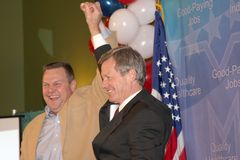 Max Baucus and Jon Tester. Democrats Jon Tester and Max Baucus royalty free stock images