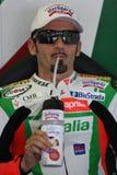 Max Biaggi Aprilia Alitalia RSV 1000 Royalty Free Stock Images